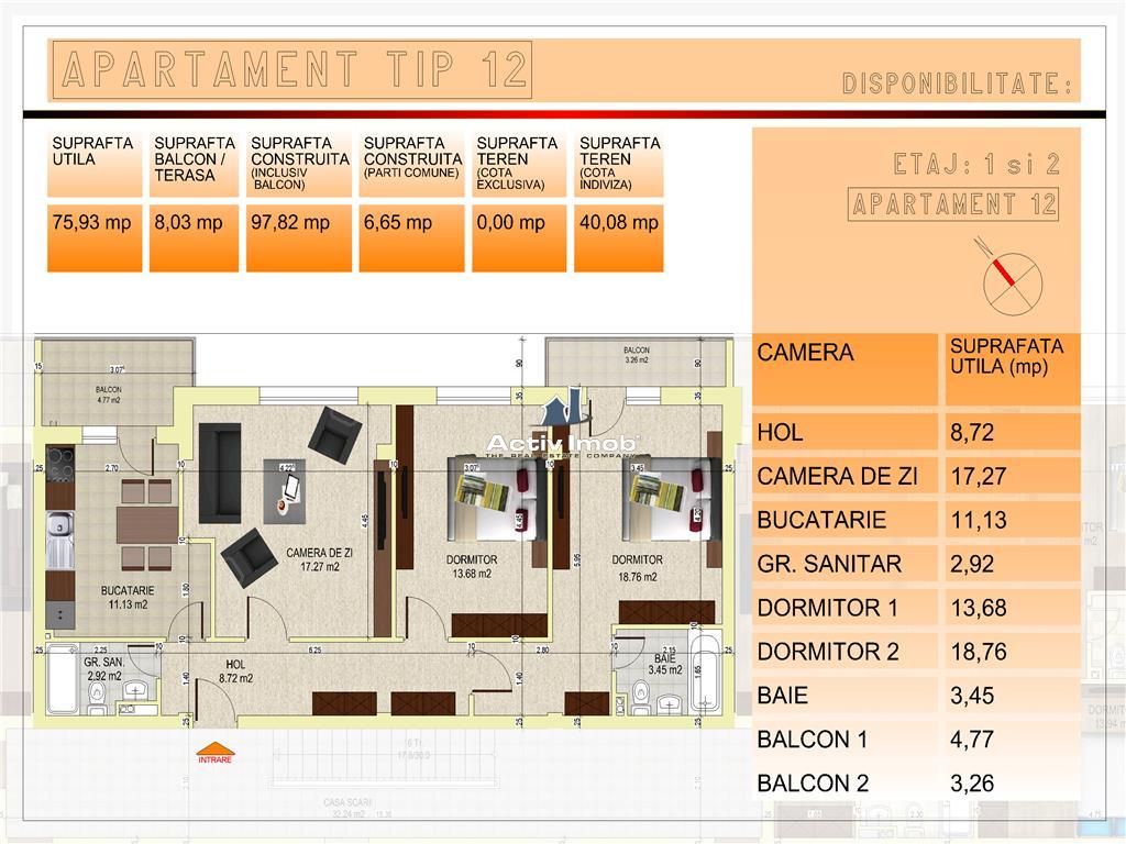 BLOC NOU CENTRAL langa POMPIERI ,apartament 3 camere
