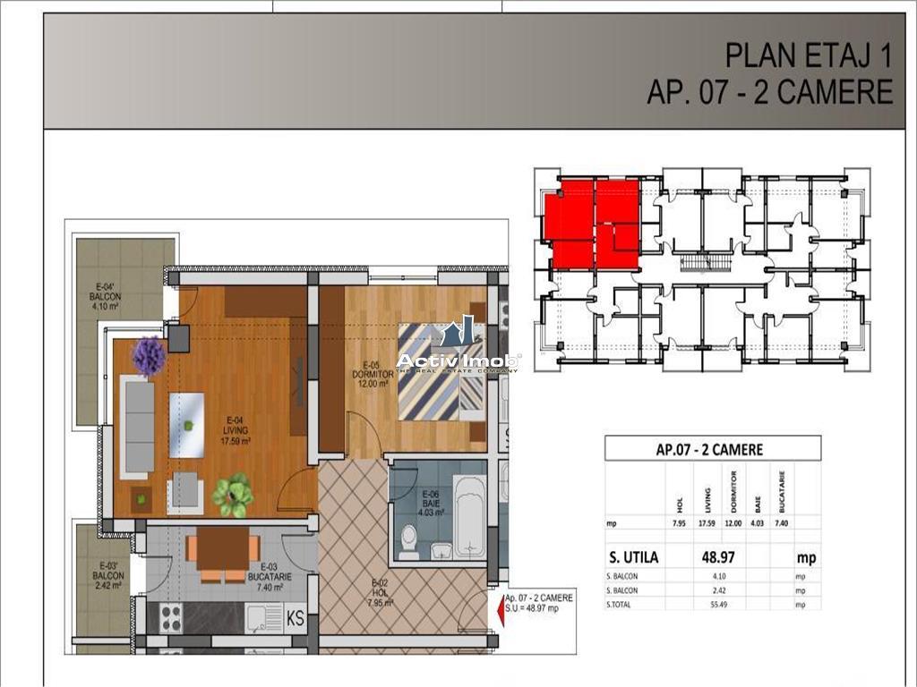 Vanzare Apartament 2 Camere, Rahova Direct Dezvoltator comision 0
