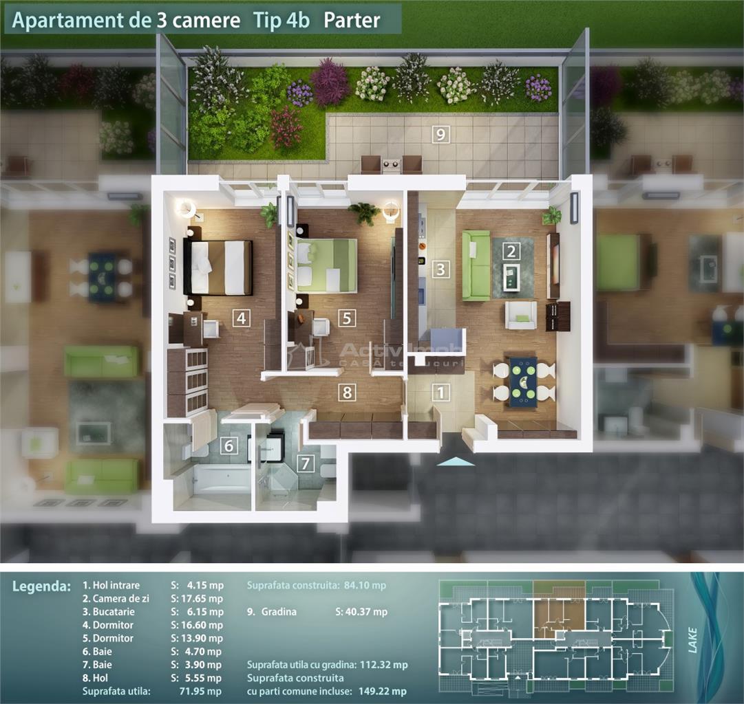 3 camere,bloc nou, Pantelimon, Lacul Pantelimon