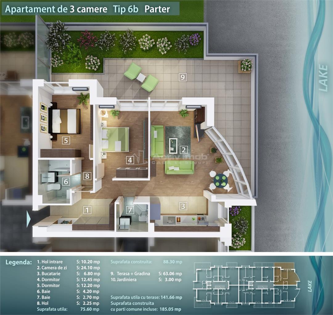 3 camere, bloc nou, Pantelimon, Lacul Pantelimon