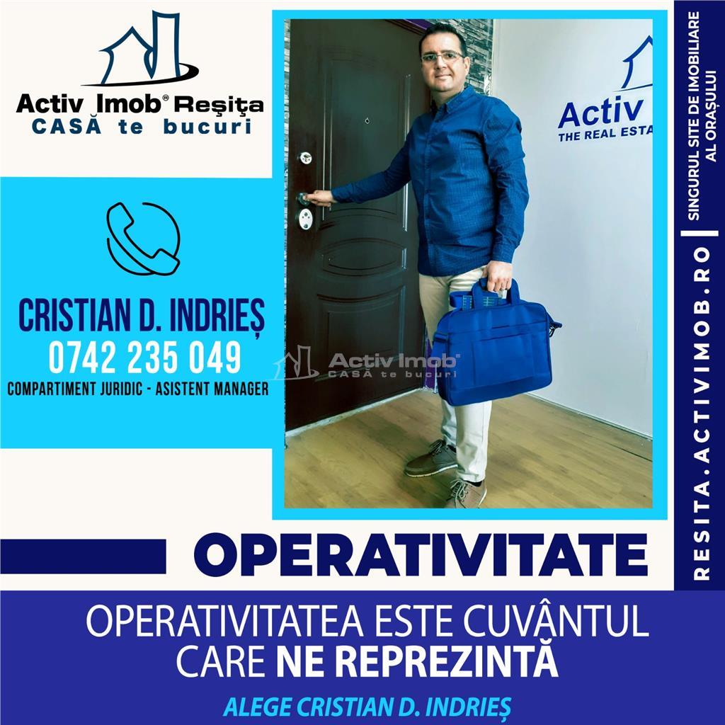 RESITA CHIRIE, APT 2 CAM, PRETABIL CA SPATIU COMERCIAL, ZONA MOROASA
