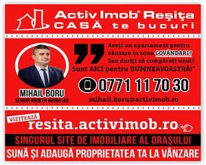 Resita, 1 Cam., Et. 1, Mobilat+Utilat, 49 MP, Lunca