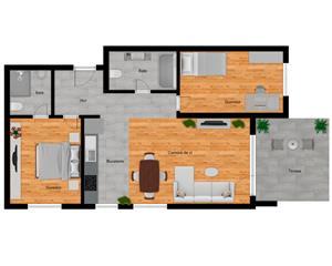 Apartamente PREMIUM 2-3 camere- Rezidential - zona Kaufland Nord