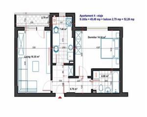 2 camere decomandate Popesti-Leordeni