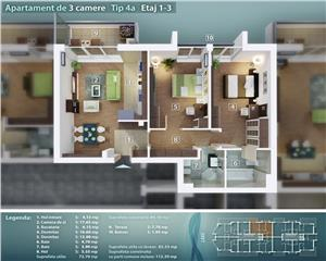 3 camere, ibloc nou, Pantelimon, Lacul Pantelimon