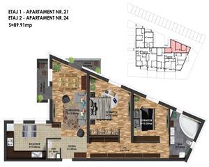 3 camere - Imobil nou ultramodern - zona Giulia II- parcare inclusa