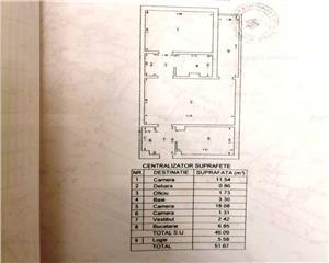 2 camere semidecomandate   52 mp   tineretului